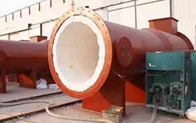 火龙热陶瓷热风炉喷涂机施工