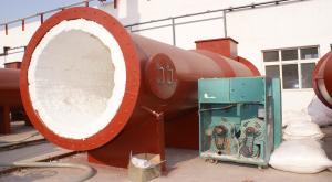 山东天力热风炉陶瓷纤维喷涂料、模块安装施工