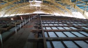 湖南江永轮窑陶瓷纤维平吊顶节能改造