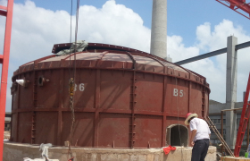 硫酸钾反应炉(曼海姆炉)高温隔热解决方案